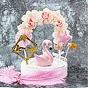 זול כלים לאפייה-קישוטים לעוגה נושא קלאסי / חופשה / חתונה אומנותי / רטרו / עיצוב מיוחד נייר טהור חתונה / יום הולדת עם פרח 1 pcs OPP