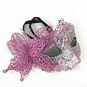 billiga Karnevalkostymer-Spets Mask Venetian Mask Halvmask Inspirerad av Prinsessa Venetian Cosplay Svart Purpur Prinsess Lolita Halloween Karnival Maskerad Vuxna Dam