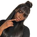 povoljno Perike s ljudskom kosom-Remy kosa Netretirana  ljudske kose 360 Frontalni Perika stil Brazilska kosa Tijelo Wave Natural Perika 180% Gustoća kose Prirodna linija za kosu Afro-američka perika Za crnkinje S praskama S bijelim
