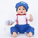 Χαμηλού Κόστους Παιχνίδια που Διώχνουν το Στρες-FeelWind Κούκλες σαν αληθινές Μωρά Αγόρια 22 inch Σιλικόνη Βινύλιο - όμοιος με ζωντανό Χειροποίητο Χαριτωμένο Παιδικό / Εφηβικό Μη τοξικά Παιδικά Γιούνισεξ Παιχνίδια Δώρο