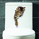 Χαμηλού Κόστους Σποτάκια LED-Αυτοκόλλητα Τουαλέτας - Animal αυτοκόλλητα τοίχου Ζώα Σαλόνι / Υπνοδωμάτιο / Μπάνιο