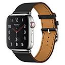 billige Smartwatch Bands-Klokkerem til Apple Watch Series 4/3/2/1 Apple Forretningsband Ekte lær Håndleddsrem