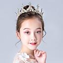 Χαμηλού Κόστους Κοστούμια με Θέμα Ταινίες & Τηλεόραση-Πριγκίπισσα Elsa Άννα Τιάρες μέτωπό Crown Halloween Πρωτοχρονιά Απομίμηση Μαργαριταριού Στρας Κράμα Για Χριστούγεννα Halloween Μασκάρεμα Κοριτσίστικα Κοστούμια Κοσμήματα Κοσμήματα μόδας