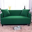 ราคาถูก ผ้าคลุมโซฟา-โซฟา Slipcovers สีทึบพิมพ์ปฏิกิริยาโพลีเอสเตอร์ / หลายสีสีเขียวสีเทาสีดำโซฟาที่นอน