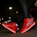 זול LED Shoes-בנים / בנות נעליים זוהרות PU נעלי ספורט פעוט (9m-4ys) / ילדים קטנים (4-7) / ילדים גדולים (7 שנים +) הליכה אבזם / LED ורוד / שחור / ירוק / כחול ים סתיו / חורף / גומי