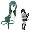 billiga Anime/Cosplay-peruker-Cosplay Cosplay Cosplay-peruker Alla 40 tum Värmebeständigt Fiber Grön Animé
