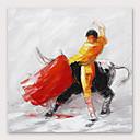 billiga Människomålningar-Hang målad oljemålning HANDMÅLAD - Abstrakt Moderna Inkludera innerram
