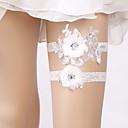 billiga Äkta peruker med hätta-Spets Elegant / Brudkläder Bröllopskläder Med Blomma / Paljett Strumpeband Bröllop / Party
