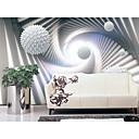 povoljno Zidne tapete-tapeta / Mural Platno Zidnih obloga - Ljepila potrebna Geometrijski oblici / Art Deco / 3D