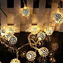 ราคาถูก สายไฟ LED-10เมตร ไฟสาย 100 ไฟ LED ขาวนวล ตกแต่ง 220-240 V 1set