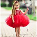 povoljno Haljine za djevojčice-Djeca Dijete koje je tek prohodalo Djevojčice Aktivan Osnovni Jednobojni Božić Bez rukávů Haljina Svjetloplav