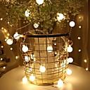 olcso LED szalagfények-6m Fényfüzérek 40 LED Meleg fehér / Több színű Szabadság / Karácsonyi esküvői dekoráció / Kis labda USB által 1set