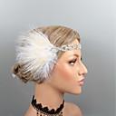 Χαμηλού Κόστους Γενέθλια-Βίντατζ 1920s Gatsby Φτερά Κεφαλές / Μαντήλι / Τεμάχια Κεφαλής με Τεχνητό διαμάντι / Κρυσταλλάκια / Φτερό 1 τμχ Γάμου / Πάρτι / Βράδυ Headpiece