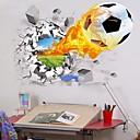 baratos Pratos de Sabão-Autocolantes de Parede Decorativos - Autocolantes 3D para Parede Futebol Americano / 3D Interior