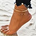 זול תכשיטי גוף-בגדי ריקוד נשים זירקונה מעוקבת צמיד לקרסול תכשיטים שכבות מרובות Arrow טרופי מקרי / ספורטיבי ביקיני יהלום מדומה תכשיט לקרסול תכשיטים זהב עבור קרנבל ביקיני