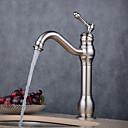 זול ברזים לחדר האמבטיה-חדר רחצה כיור ברז - נפוץ Electroplated אחר חור ידית אחת אחתBath Taps / Brass