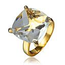 Χαμηλού Κόστους Χαραγμένο Δαχτυλίδια-Γυναικεία Δαχτυλίδι Δαχτυλίδι αρραβώνων Cubic Zirconia 1pc Χρυσό 18Κ Επίχρυσο Μοντέρνα Πάρτι Αρραβώνας Κοσμήματα Κλασσικό