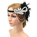ราคาถูก เคสฮาร์ดดิสก์-วัสดุอื่น ๆ headbands กับ ขนนก 1 ชิ้น งานแต่งงาน / งานปาร์ตี้ / งานราตรี หูฟัง
