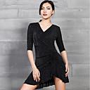 Χαμηλού Κόστους Ρούχα χορού λάτιν-Λάτιν Χοροί Φορέματα Γυναικεία Επίδοση Spandex Γκλίτερ / Πλισέ Μισό μανίκι Φόρεμα
