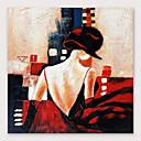 povoljno Slike ljudi-Hang oslikana uljanim bojama Ručno oslikana - Ljudi Moderna Uključi Unutarnji okvir