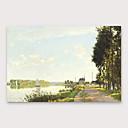 povoljno Slike krajolika-Hang oslikana uljanim bojama Ručno oslikana - Sažetak Moderna Uključi Unutarnji okvir
