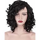 Χαμηλού Κόστους Συνθετικές περούκες χωρίς σκουφί-Συνθετικές Περούκες Afro Kinky Ασύμμετρο κούρεμα Περούκα Κοντό Μαύρο Συνθετικά μαλλιά 12INCH Γυναικεία Ρυθμιζόμενο Ανθεκτικό στη Ζέστη συνθετικός Μαύρο