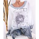 povoljno Modne naušnice-Bluza Žene - Ulični šik Dnevno Cvjetni print Blushing Pink / Proljeće / Jesen