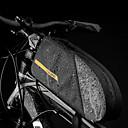 billige Vesker til sykkelramme-CoolChange 1.6 L Vesker til sykkelramme Vesker til sykkelstyre Regn-sikker Fort Tørring Vanntett Glidelås Sykkelveske TPU Nylon Sykkelveske Sykkelveske Sykling Utendørs Trening Sykkel / Refleksbånd