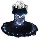 povoljno Odjeća za latino plesove-Balet Crni labud LED Slojevito Haljine kratka baletska suknja Suknja s mjehurićima Pod suknjom Žene Djevojčice Dječji Til Pamuk Kostim Crn Vintage Cosplay Božić Party Halloween Bez rukávů Dužina