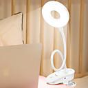billiga Läslampa-brelong uppladdningsbart klämma på läslampa slitstarkt trådlöst bärbart klämma på ljus dagsljusläsning med justerbar ljusstyrka flexibel 360 ° usb lampa för hembok säng och dator