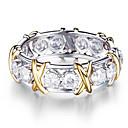 ราคาถูก แหวน-สำหรับผู้หญิง แหวน Cubic Zirconia 1pc สีเงิน โลหะผสม วงกลม อินเทรนด์ สง่างาม งานแต่งงาน เครื่องประดับ แฟนซี น่ารัก