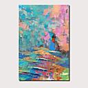 povoljno Apstraktno slikarstvo-Hang oslikana uljanim bojama Ručno oslikana - Sažetak Pejzaž Comtemporary Moderna Uključi Unutarnji okvir