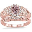 povoljno Modne naušnice-Žene Prstenasti set Micro Pave Ring Kubični Zirconia 2pcs Rose Gold Kamen Pozlata od crvenog zlata Geometric Shape Luksuz Jedinstven dizajn Vjenčanje Dar Jewelry Klasičan Cvijet Cool Lijep