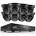 billige DVR-Sett-sannce® 8ch 8pcs 720p sycurity system nattesynkamera system uten hdd