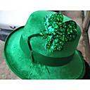 ราคาถูก อุปกรณ์เดินทางสุนัข-Robin Hood หมวกไอริชโคลเวอร์ ผู้ใหญ่ สำหรับผู้ชาย วันฮาโลวีน เทศกาลคานาวาล วันเซนต์แพททริค Festival / Holiday ผ้าหรูหรา ส้ม / สีเขียว / เขียวเข้ม ชุดเทศกาลคานาวาว แชมร็อคแปลกใหม่ 3 ใบ