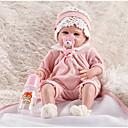 billige Bil-DVR-FeelWind Reborn-dukker Girl Doll Babygutter Babyjenter 22 tommers Silikon Vinyl - liv som Håndlaget Søtt Barn / Ungdommer Ikke giftig Barne Unisex Leketøy Gave