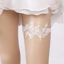 ราคาถูก ถุงเท้าสำหรับงานแต่งงาน-ลูกไม้ สง่างาม / เกี่ยวกับเจ้าสาว Wedding Garter กับ เข็มกลัด / มุก สายรัด งานแต่งงาน / ปาร์ตี้