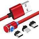 Χαμηλού Κόστους Καλώδιο Ethernet-Micro USB / Φωτισμός / Τύπος-C Καλώδιο 1m-1.99m / 3ft-6ft 1 ως 3 Πλαστικά / Αλουμίνιο Προσαρμογέας καλωδίου USB Για Samsung / Huawei / Xiaomi