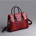 ราคาถูก กระเป๋า Totes-สำหรับผู้หญิง ซิป PU กระเป๋าถือยอดนิยม สีดำ / ไวน์ / สีม่วง