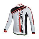 ราคาถูก เกียร์ป้องกันรถจักรยานยนต์-cheji® สำหรับผู้ชาย แขนยาว Cycling Jersey สีเขียว แดง จักรยาน Tops ขี่จักรยานปีนเขา Road Cycling รักษาให้อุ่น ระบายอากาศ Moisture Wicking กีฬา ไลคร่า เสื้อผ้าถัก / ความยืดหยุ่นสูง / YKK Zipper
