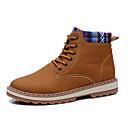 זול מגפיים לגברים-בגדי ריקוד גברים מגפי שלג PU סתיו מגפיים מגפיים באורך אמצע - חצי שוק שחור / כחול / חאקי
