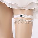 Χαμηλού Κόστους Καλτσοδέτες γάμου-Δαντέλα Φανταχτερό / Κομψό Γάμος Garter Με Στυλ Διασκορπισμένων Κρυστάλλων Καλτσοδέτες Γάμου / Πάρτι