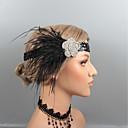 povoljno Party pokrivala za glavu-Perje Trake za kosu / Headpiece s Štras / Kristal / Perje 1 kom. Vjenčanje / Zabava / večer Glava