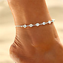 cheap Body Jewelry-Women's Ladies Cubic Zirconia Ankle Bracelet feet jewelry Retro Floating Cheap Tropical Casual / Sporty Bikini Small Anklet Jewelry Gold / Silver For Causal Daily