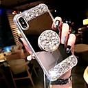 baratos Perucas Sintéticas sem Touca-Capinha Para Apple iPhone 11 / iPhone 11 Pro / iPhone 11 Pro Max Antichoque / Com Suporte Capa traseira Strass Rígida Acrílico