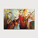 Χαμηλού Κόστους Πίνακες Τοπίων-Hang-ζωγραφισμένα ελαιογραφία Ζωγραφισμένα στο χέρι - Αφηρημένο Μοντέρνα Περιλαμβάνει εσωτερικό πλαίσιο