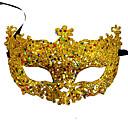 Χαμηλού Κόστους Μάσκες-Ενετική μάσκα Μάσκα μάσκας Μισή μάσκα Εμπνευσμένη από Στολές Ηρώων Μαύρο Χρυσαφί Πούλιες Halloween Halloween Απόκριες Μασκάρεμα Ενηλίκων Γυναικεία Γυναίκα