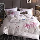 お買い得  フローラルデベットカバー-布団カバーセット フラワー / 現代風 コットン 刺繍 4個Bedding Sets