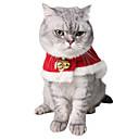 olcso Pet karácsonyi jelmezek-Kutyák Macskák Jelmezek Kutyaruházat Piros Karácsony Jelmez Mopsz Snautzer Uszkár Polár gyapjú Pamut Egyszínű Szerepjáték S L
