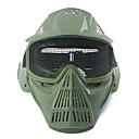 ราคาถูก หมวกกันน็อกจักรยานยนต์-ปืนอัดลมยุทธวิธีเต็มใบหน้าหน้ากากที่มีความปลอดภัยป้องกันแว่นตาโลหะ